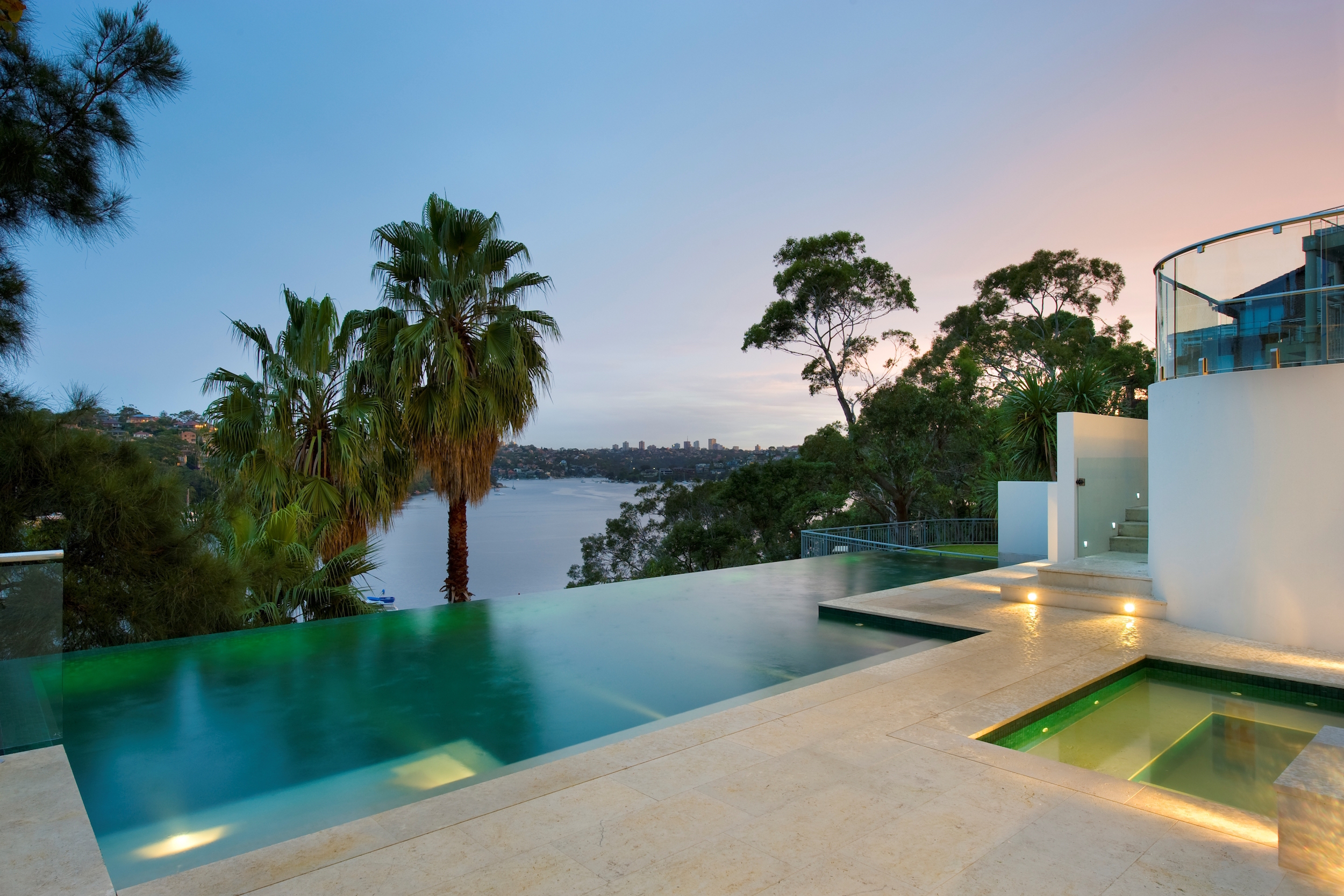 Artedomus inax stone agape at residence by manolev for Pool showrooms sydney
