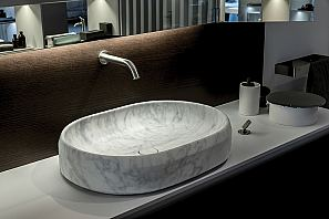 Lariana oval over countertop basin in Bianco Carrara marble.jpg