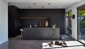 Maximum Moon island, bench top and splashback. Design by DKO Architecture. Photography by Peter Bennetts..jpg