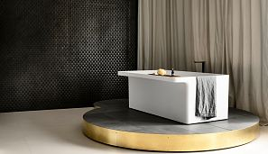 Agape Marsiglia bath with Sen tap, INAX Repeat Wave mosaic, Polardur stone plinth and MAXIMUM Saturn floor.jpg
