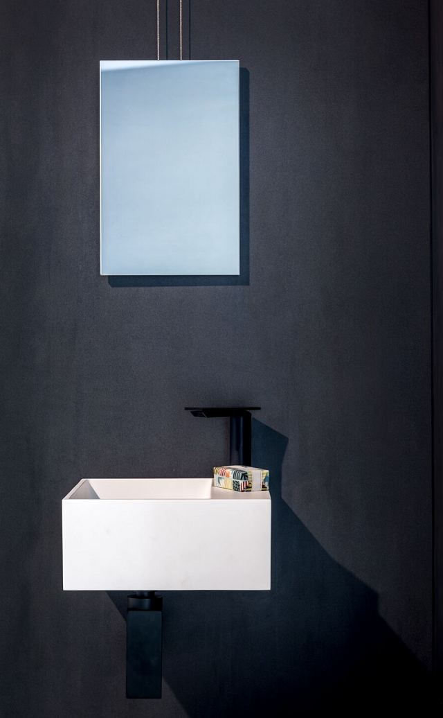 Minuetto mirror, Handwash basin, Sen tap on Maximum Zinc porcelain panel.jpg
