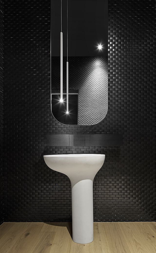 Repeat Wave RW2 mosaic with Agape Sen tap and accessories and Drop pedestal basin - Architecton.jpg