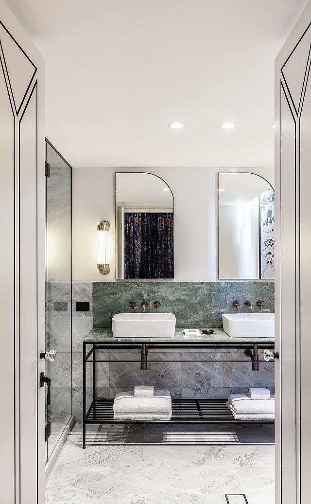 Smeraldo Vanity with Elba floor and wall. Designed by Cressida Kennedy and Connie Alessi. Photography by Tom Ferguson..jpg