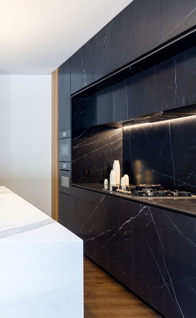 Maximum Marquina Honed + Statuario Matt by MGArchitecture.Interiors. Photography by Peter Mathew - 02 copy.jpg