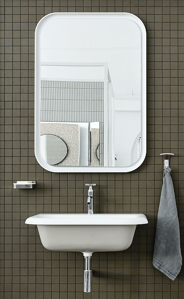 INAX Sugie Series S7736 Hanten mosaic with Agape Ottocento basin, Memory Mirror, tapware and accessories.jpg