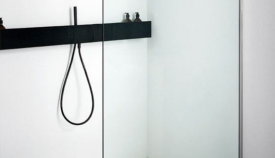 Sen ASEN0913 - Black wall mounted hand-held shower with flexible hose & levers.jpg