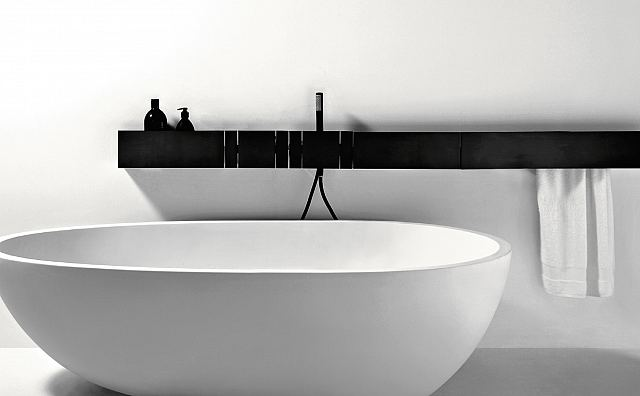 Sen black wall mounted spout & levers for bathtub.jpg