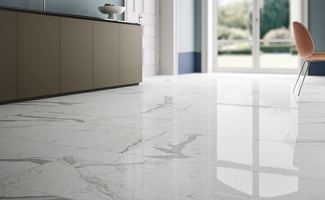 Fiandre Marmi Lab Statuario Polished floor 01.jpg