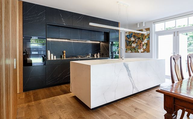 Maximum Marquina Honed + Statuario Matt by MGArchitecture.Interiors. Photography by Peter Mathew - 01.jpg